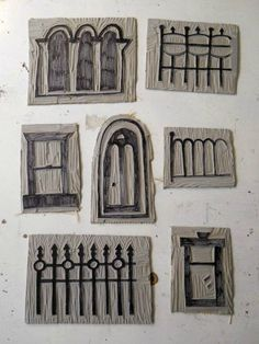 houses hand carved rubber stamp hand carved by talktothesun carved stamps - windows, doors & fences Circle Border Hearts Hand Carved Rubber. Diy Stamps, Homemade Stamps, Stamp Printing, Printing On Fabric, Stamp Carving, Linocut Prints, Art Plastique, Pixel Art, Art Lessons