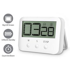 $3.01 (70% Off) on LootHoot.com - Digital Countdown Timer - Countdown Clock Digital Kitchen Timer Big Digits Cooking Timer Alarm Clock Interval Timer Magnetic Countdown Timer Loud Alarm Stopwatch Cooking Timer Alarm