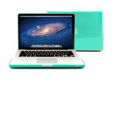 """Amazon.com: GMYLE (R) Turquoise Robin Egg Blue Clear Crystal See Thru Hard Shell Clip Snap On Case Skin Cover for Apple 13.3"""" inches Macbook..."""