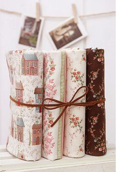 Country House 4 different Kinds Quilt Fabric Bundle