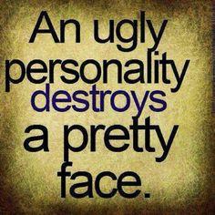 Attitude = ugliness