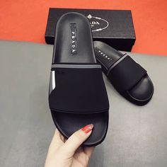 Prada man slippers flats - Mens Slippers - Ideas of Mens Slippers Mens Moccasin Slippers, Leather Slippers For Men, Best Slippers, Men's Slippers, Prada Men, Prada Shoes, Mens Fashion Shoes, Leather Sandals, Man Stuff