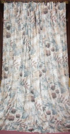 Vintage-Retro-Modern-Victorian-French-Country-Leaf-Floral-Silk-Drapes-Curtains
