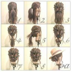 くるりんぱで超簡単ヘアアレンジまとめ♡ロング・ミディアム・ボブなどのやり方 ヘアアレンジ:庄司 将之 Up Styles, Hair Styles, Hair Arrange, Nail Spa, Hair Beauty, Dreadlocks, Girly, Hairdos, Hair Plait Styles