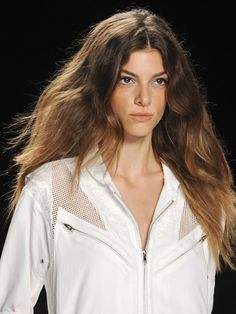 Spring 2013 hair trend: bed head - Rebecca Minkoff #nyfw ~