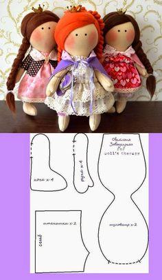 ARTE COM QUIANE - Paps,Moldes,E.V.A,Feltro,Costuras,Fofuchas 3D: molde boneca russa