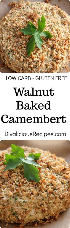 Walnut baked Camembert cheese is a great appetiser or perhaps to share with a salad.