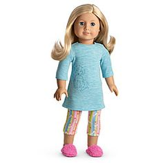 American Girl® : Honey Puppy PJ's for Dolls + Charm