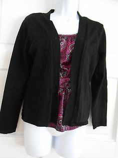 Womans knit top with attached cami, sz PL apt 9, office casual