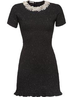 ac14634cf2c MIU MIU MIU MIU CLOQUÉ DRESS - BLACK.  miumiu  cloth