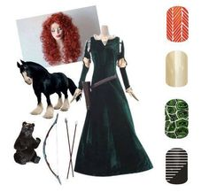 Disney Spring Summer 2015 Jamberry Nails Games Merida