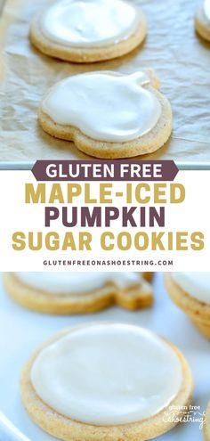 These delightfully soft cutout sugar cookies are packed with pumpkin flavor and simple to make. They don't spread at all during baking, so they keep their shape perfectly. #Dessert #GlutenFree #Cookies #Pumpkin