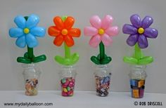 Candy cup flowers (like ours)