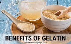 12 Benefits of Gelatin - Nourishing Hope Gelatin Powder Benefits, Hydrolyzed Collagen Powder, Gelatin Collagen, Gelatin Recipes, Improve Gut Health, Gaps Diet, Protein Supplements, Vitamins And Minerals