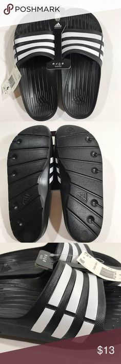 27639868d Adidas kids size 4 NWT NWT Kids skip ons size 4 adidas Shoes Sandals   Flip