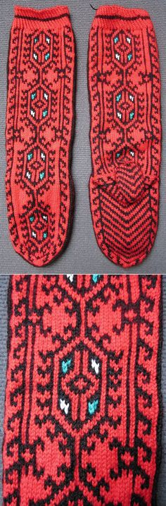 Traditional woollen stockings for women. From Çamlıhemşin (Rize province), late 20th century. Ethnic goup: Hemşinli. (Inv.nr. çor033- Kavak Costume Collection - Antwerpen/Belgium).