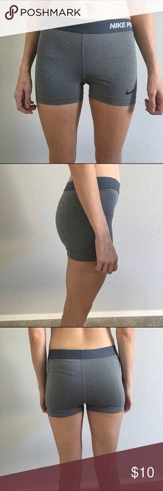Nike tight workout shorts Size S grey Nike tight workout shorts worn a handful of times Nike Shorts