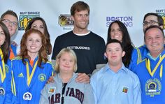 May 1, 2013: Tom Brady promoting his TEAM Tom Brady and other BEST BUDDIES CHALLENGES members. Via The Boston Globe.