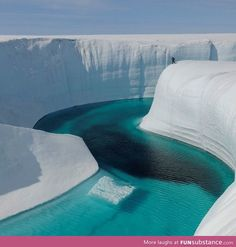 Ice canyon, Greenland