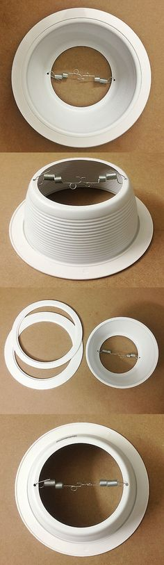 Lighting parts and accessories 20705 6 pack 4 inch recessed can lighting parts and accessories 20705 6 inch recessed can white baffle trim 12 pack replaces mozeypictures Gallery
