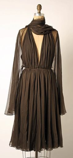 Cocktail Dress, Madame Grès (Alix Barton) (French, Paris 1903–1993 Var region): late 1960's - mid 1980's, French, silk.