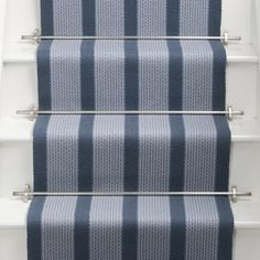 Roger Oates Lyon Narrow Raspberry stair runner for our hall (but with dark oak stairs and black rods). Painted Staircases, Painted Stairs, Wooden Stairs, Oak Stairs, House Stairs, Carpet Stairs, Seaside Apartment, Monochromatic Room, Building Stairs