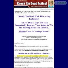 A Complete Step-by-step System For Preparing An Acting Role. This Revolutionary New Technique Teaches You How To Take Your Brand-new Script And Create A Complex, Interesting Character In The Shortest Possible Time. See more! : http://get-now.natantoday.com/lp.php?target=knockmdead