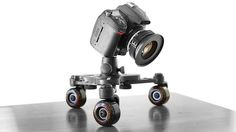 Cinetics CineSkates Pro Camera Dolly by Cinetics. CineSkates Pro delivers stunningly smooth camera movements in a compact and modular design. CineSkates Pro is available as the basic combination of Cinetics CineSkates and the new SkatePlate http://store.cinetics.com/cineskates-pro/ or in a system including the GorillaPod Focus and Ballhead X http://store.cinetics.com/cineskates-system/