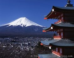 Mount Fuji (Honshu island, Japan) as seen from the Fuji Yoshida pagoda. Awesome hiking trip to the holy mountain. Go To Japan, Visit Japan, Sweden Travel, Iceland Travel, Brazil Travel, Australia Travel, Oh The Places You'll Go, Places To Travel, Vacation Places
