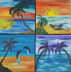 Beach and sea. Acrilycs paint.