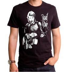 b9d3e415 David Bowie T-Shirt - Live Rock T Shirts, Rock Tees, Mens Cotton