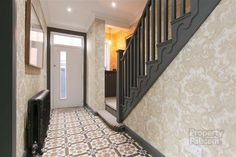Property For Sale in Belfast Garden On A Hill, Hallway Lighting, Belfast, Property For Sale, Tile Floor, Stairs, Cabin, Hallways, Gardens