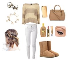"""Please follow my sister @lgljovana :)"" by marija-grahovac ❤ liked on Polyvore featuring Dorothy Perkins, UGG Australia, rag & bone, Joyrich, Tory Burch, Goldgenie, Clinique, Sun Bum, LORAC and Michael Kors"