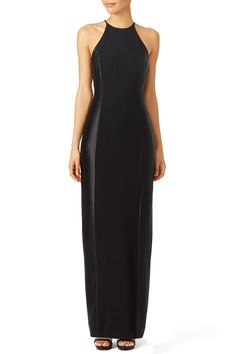 Rent Liz Halter Gown by Halston Heritage for $80 only at Rent the Runway. Rustic Italian Wedding, Bridesmaids, Bridesmaid Dresses, Halter Gown, Rent The Runway, Fitted Skirt, Halston Heritage, Side Panels, Hippie Style