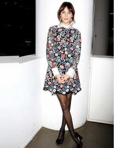 Alexa Chung's Style File |  ELLE UK Alexa Chung in Valentino at her 'It' book launch, New York, October 2013.  Photo by REX