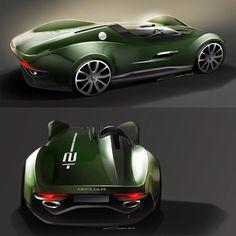 Jaguar Streamline Concept Design Sketches by David Gayon