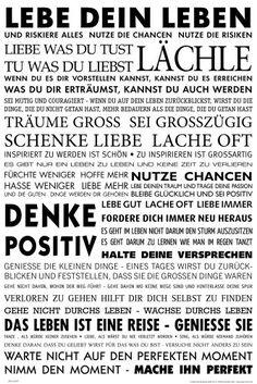 Empire 555687 Motivational - Lebe Dein Leben Motivations Poster Plakat Druck 61 x 91.5 cm:Amazon.de:Küche & Haushalt