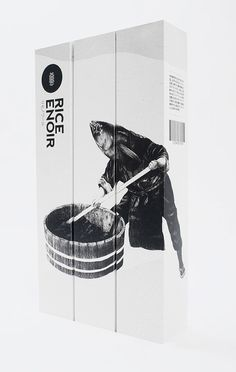 rice enoir sake : design by sciencewerk : illustration by roby dwi antono Japanese Packaging, Cool Packaging, Food Packaging Design, Bottle Packaging, Brand Packaging, Branding Design, Rice Packaging, Coffee Packaging, Product Packaging