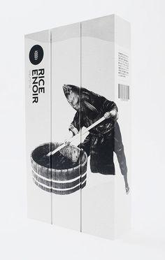 Rice Enoir Sake - The Dieline  Great story behind this #sake and #packaging too PD