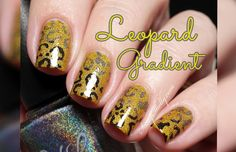 Leopard Mani! Simple Stamped Gradient Nail Design - video tutorial by Sassy Shelly #nails #naillart #animalprint