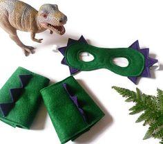 Dinosaur Costume  Dinosaur Mask & Cuffs  by AisforAliceShop