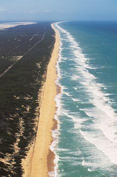 Ninety Mile Beach, 3 hr drive away, near Gippsland