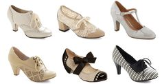 Roaring Twenties shoes from Modcloth - perfect for your wedding!