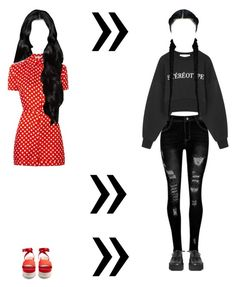 """""""Let Your Hair Down 2"""" by deadlynight ❤ liked on Polyvore featuring Carven, Être Cécile, Miu Miu and MM6 Maison Margiela"""