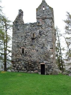 Knock Castle ruins in Aberdeenshire, England