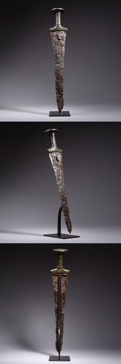 Ancient Near Eastern Early Iron Age Iron & Bronze Sword - 900 BC