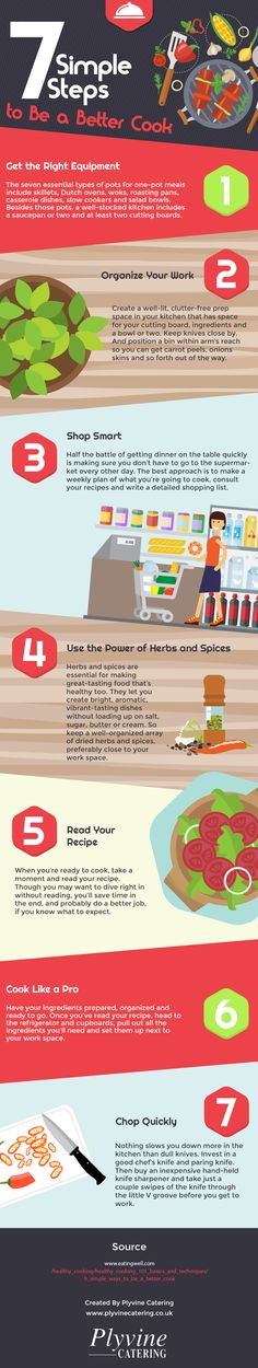 7 Simple Steps to Be a Better Cook #Infographic