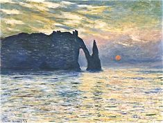 What was Claude Monet doing at 16.53 on February 5, 1883? Astronomers from Texas know the answer! On February 5, 1883 at 16:53, Claude Monet was painting. He was working on this very painting - The Manneport, Cliff at Étretat, Sunset. A group of...