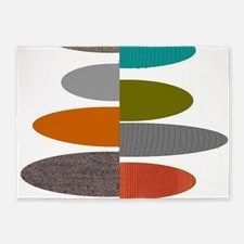 Mid-Century Ovals 5'x7'Area Rug for