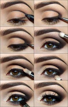 DIY Dark Eyes Makeup diy diy ideas easy diy diy fashion diy makeup diy eye liner